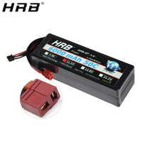 HRB Lipo batterie 3S 11.1V 6000mah 50C T Deans XT60 EC5 XT90 Hardcase pour Traxxas voiture camion bateau FPV avion quadrirotor RC pièces