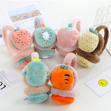 Earmuffs Warm-Accessories Plush Winter Children And Adult Cartoon Fruit Embroidered Girl's