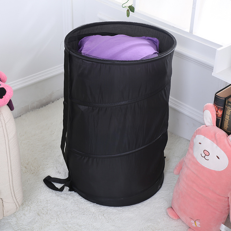 Double-deck Laundry Basket Folding Dirty Clothes Laundry Hamper Storage Basket Bag Holder Rack Home Sundries Organizer