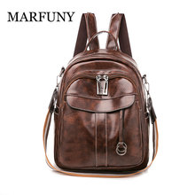 New Retro Women Leather Backpack College Preppy School Backbag Student Shoulder Bag Girls Back Pack Travel Backpack Anti Theft