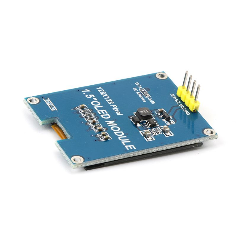 1.5inch 128x128 <font><b>OLED</b></font> Shield Module Display Screen Encoder With Driver IC <font><b>SSD1327</b></font> Digital Spare Parts For Raspberry Pi For STM32 image