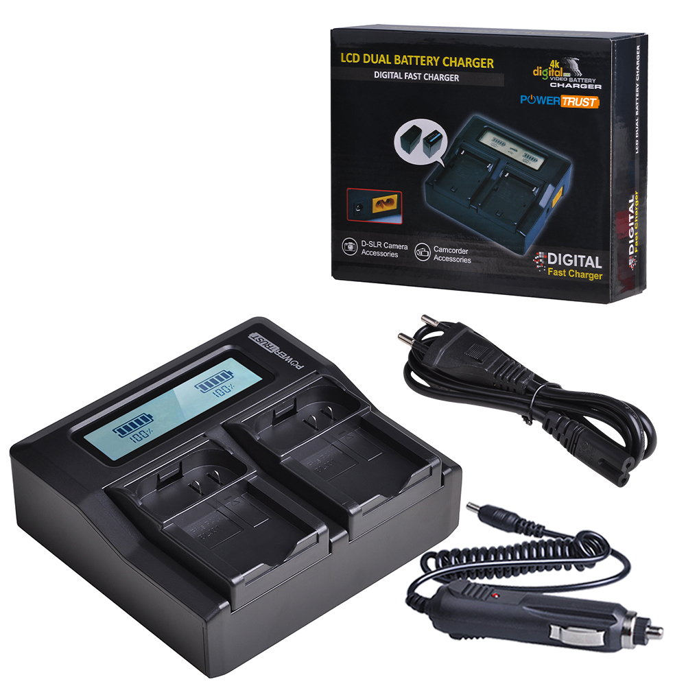 1x DMW-BLJ31 DMWBLJ31 BLJ31 Battery Charger Ultra Quick LCD Charger for <font><b>Panasonic</b></font> LUMIX S1, <font><b>S1R</b></font>,S1H, LUMIX S Series Batteries image