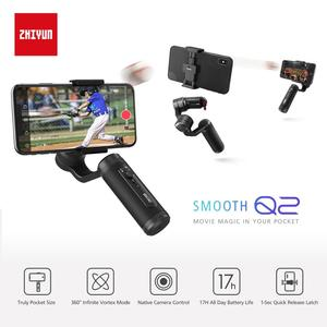 Image 5 - Zhiyun السلس 4 Q2 Vlog لايف 3 Axis يده الذكي مثبت أفقي آيفون Xs ماكس X 8 7 و سامسونج S9 ، S8 و عمل الكاميرا
