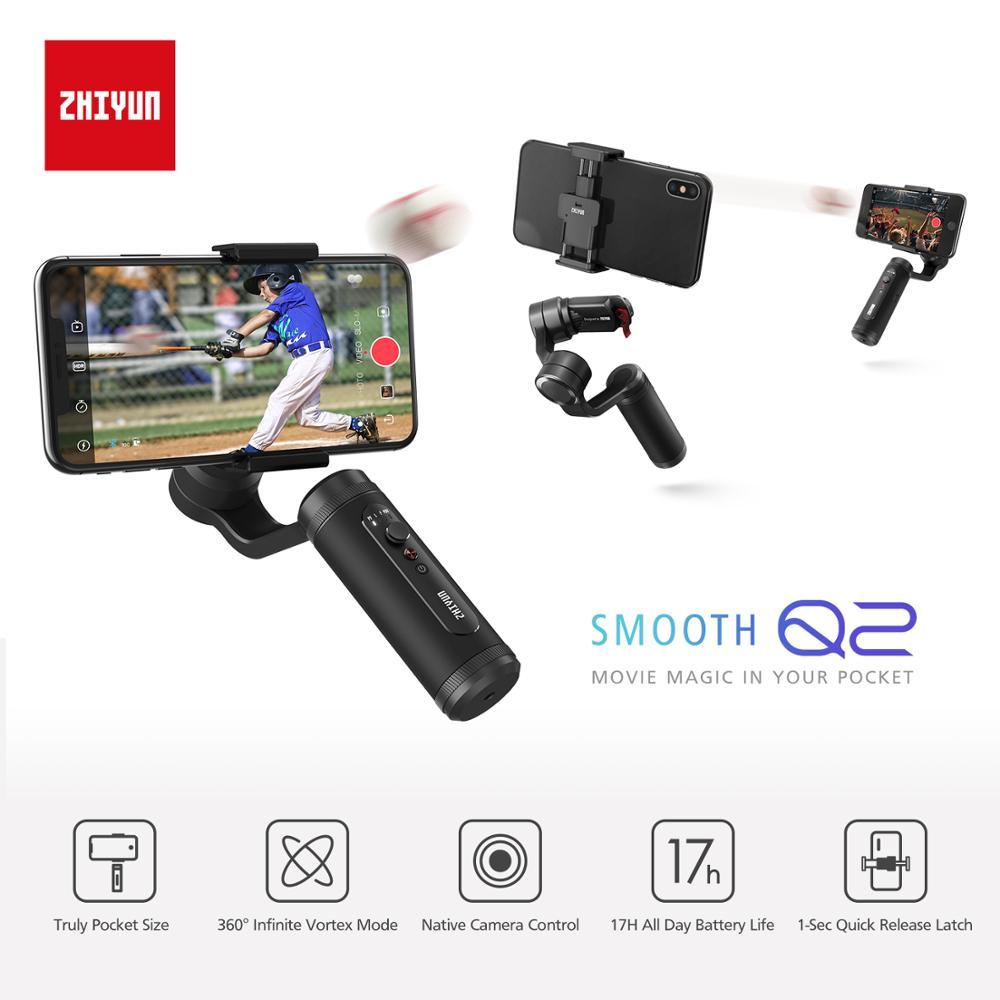 Zhiyun Smooth 4 Q2 Vlog Live 3 осевой портативный смартфон сотовый телефон видеокамеры Стабилизатор для iPhone Xs Max X 8 7 и samsung S9, S8 и экшн Камера - 6