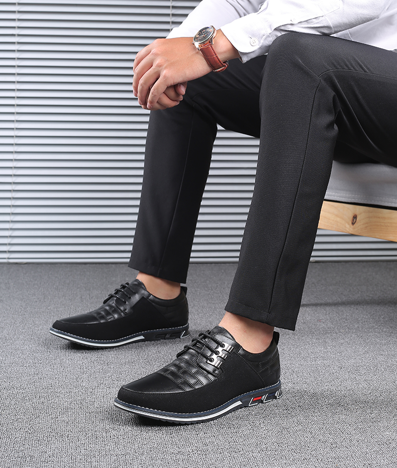 H37105936d5d8428da5cc32da6a815d26q Design New Genuine Leather Loafers Men Moccasin Fashion Sneakers Flat Causal Men Shoes Adult Male Footwear Boat Shoes