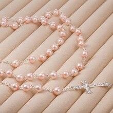 Крест Шарм христианский Бог четки ожерелье из искусственного жемчуга крест браслет праздничный подарок украшение дома Рождественское украшение