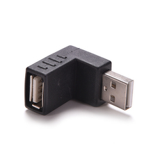 цена на 1Pc 90 Degree USB 2.0 Male to Female Adapter Right Angle USB 2.0 Converter Connector for Laptop PC Computer Black
