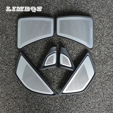 Full LHD car horn cover a set 6 pc for bmw f10 f11 5 series front rear door tweeter cover original suit audio speaker panel trim