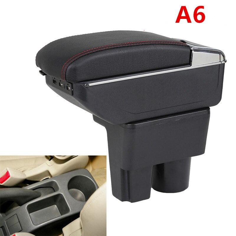 Кожаные детали интерьера автомобиля, подлокотник центральной консоли для Suzuki Liana A6, подлокотники с USB, бесплатная доставка