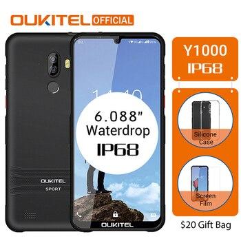 Перейти на Алиэкспресс и купить OUKITEL Y1000 Android 9,0 мобильный телефон 6,08 дюймMT6580P 2G RAM 32G ROM 3600mAh отпечаток пальца 3G смартфон разблокировка две sim-карты мобильный телефон