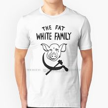 A gordura branca família t camisa 100% algodão puro a gordura branco família porco banda música rusia comunismo