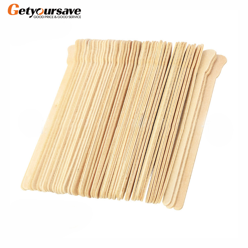 Hair Removing Wax Stick Wooden Strips Hard Beans Mixing Tool Cream Kit Tongue Depressor Facial Mask Spatula
