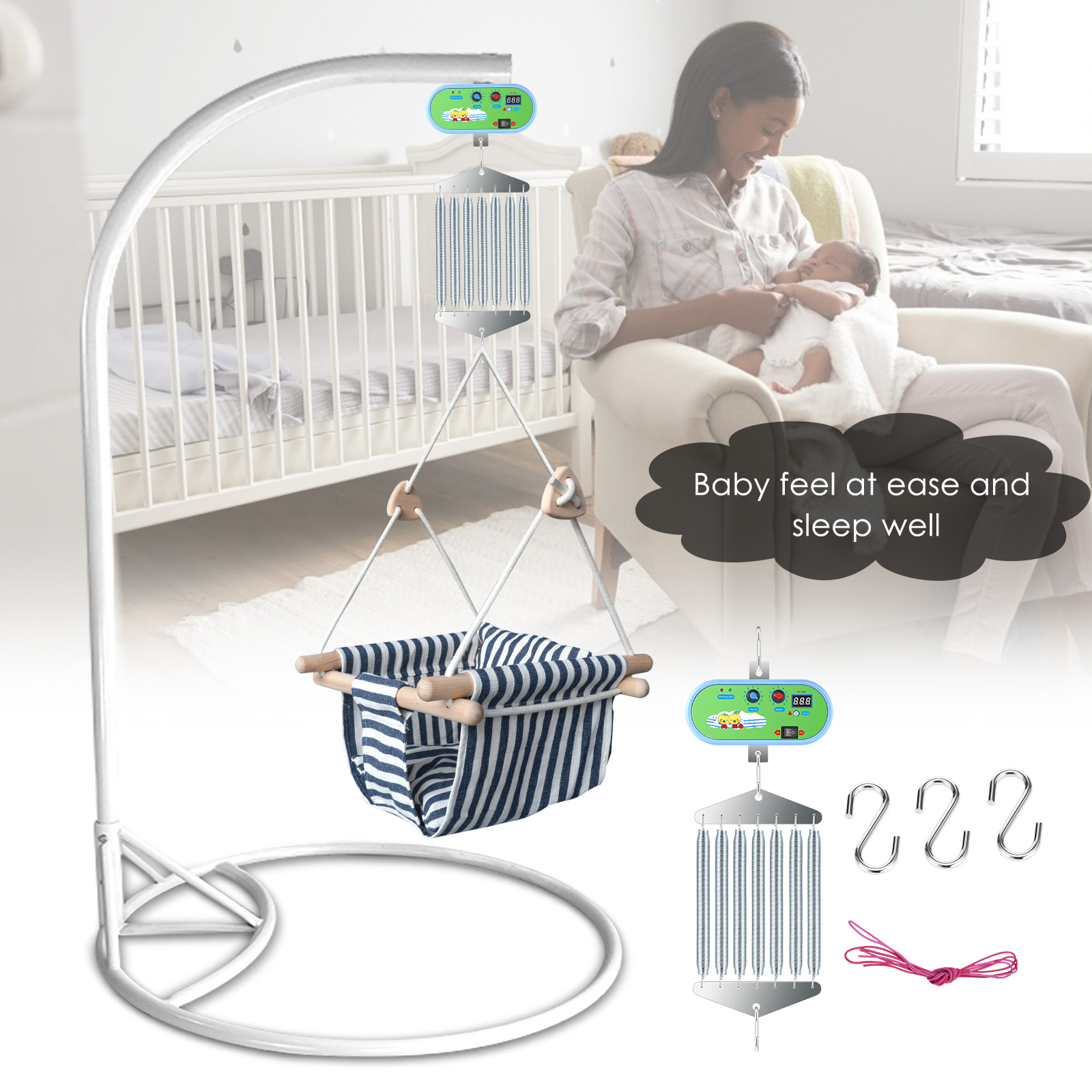 Baby Cradle Controller Baby Swing Replacement Motor With Germany Adaptor EXternal Power Auto Rock Play Vibrating Sleeper