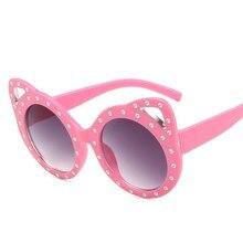 Роскошные детские солнцезащитные очки кошачий глаз в стиле ретро 2021, модные брендовые Детские солнцезащитные очки, детские солнцезащитные ...