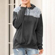 Autumn Winter Ladies Sweatshirt Women Long-Sleeved Hoodies Tops Patchwork Harajuku Sudadera Camiseta Mujer