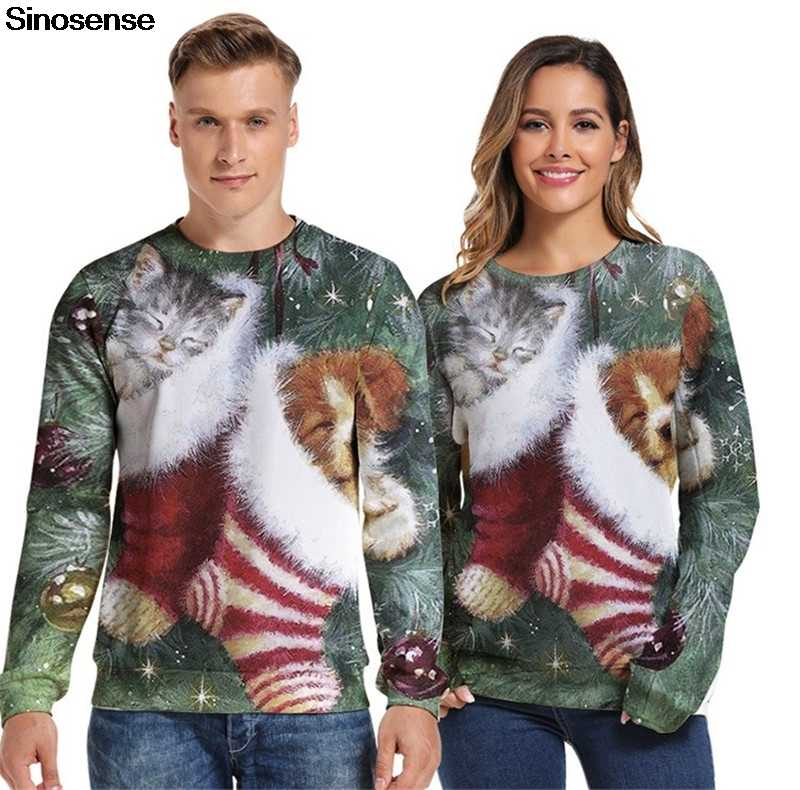 Ugly Christmas Sweaters 2020 Mens 3xl New Autumn Winter Ugly Christmas Sweater Xmas Women Men Plus Size