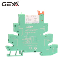GEYA Slim Relay Module Protection Circuit 6A Relay 12VDC/AC or 24VDC/AC Relay Socket 6.2mm thickness цена 2017