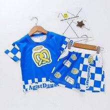 цена на 2020 Summer Boy Clothing Set Boys Short Sleeve T-Shirt +shorts Pants Children Sports Suit Kids Boy Clothes Sets