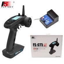 FS GT5,Flysky FS GT5 Phát Với FS BS6 Thu Với Con Quay Hồi Chuyển Hệ Thống Ổn Định Cho RC Xe Ô Tô/Thuyền