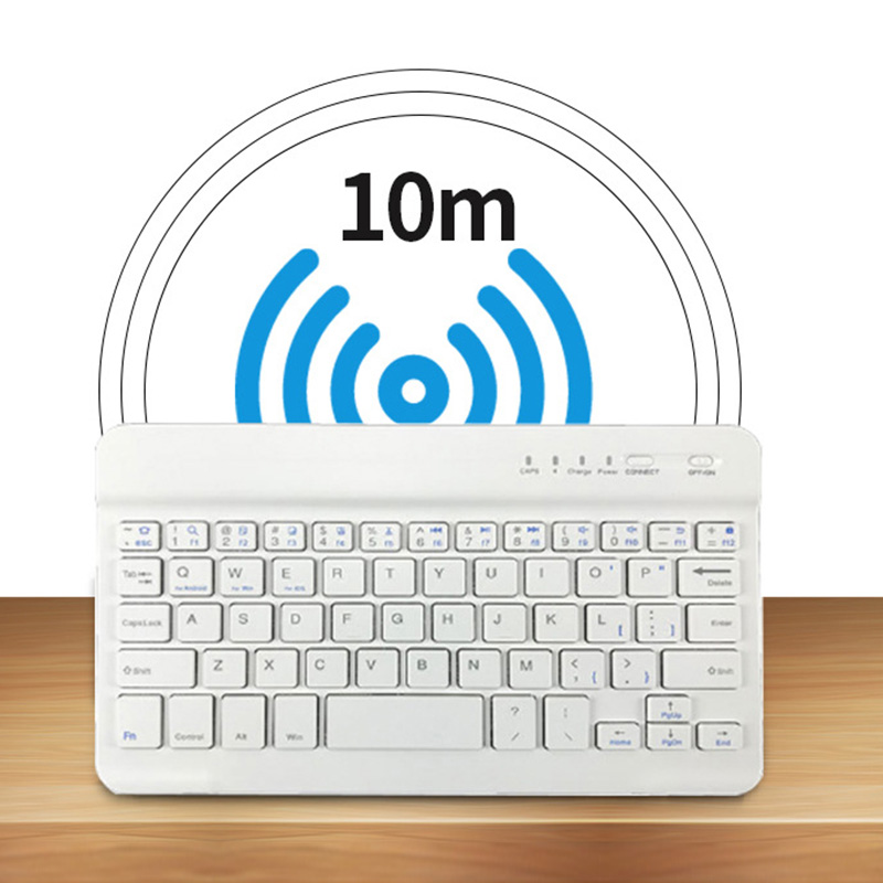 1 Pcs Slim Mini Keyboard Bluetooth Wireless 7 8 Inch For Mobile Phone Tablets IOS Android FKU66 image