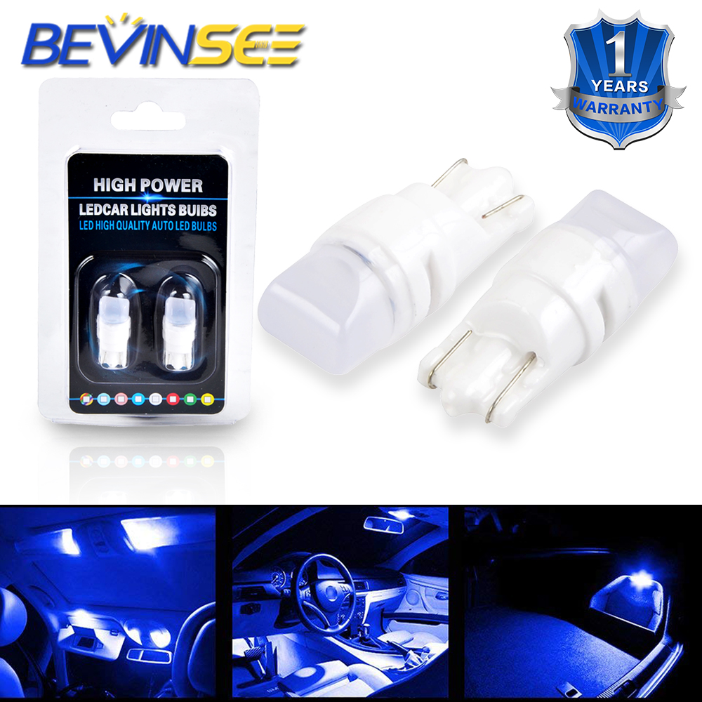 Bevinsee T10 T8 T12 T15 2835-SMD Chips LED Light Bulbs For Ford Explorer Car Dome Center High Mount Stop Parking Light Lamp Bulb