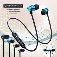 Magnetic Wireless bluetooth Earphone Wireless Sports music headset Phone Neckband sport Earbuds Earphone with Mic For phone wireless sports music headphones magnetic wireless bluetooth headset phone neckband sports earbud headset with microphone