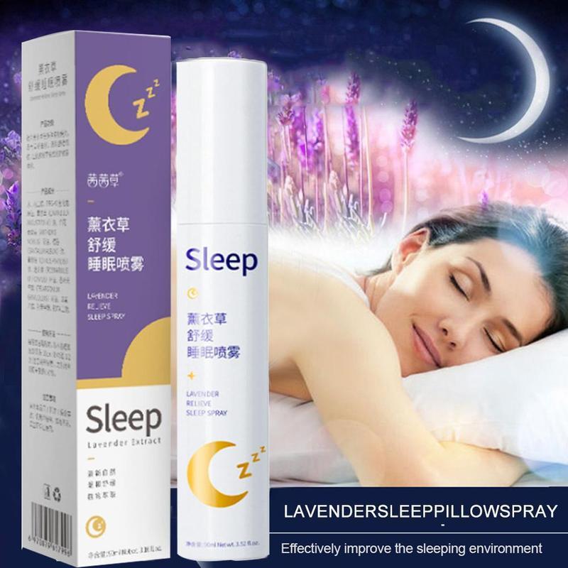 90 мл Лавандовая подушка для глубокого сна, спрей, экстракт семян бессонницы, эфирное масло, снимает стресс, тревога, помогает спать, свежий спрей|Эфирное масло| | АлиЭкспресс - Товары для крепкого сна
