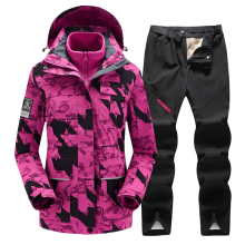 New Warm Colorful Ski Suit Women Waterproof Skiing Snowboarding Jacket Pants Set Female Ski Jackets Winter Outdoor Snow Costumes