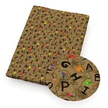 Рождество 50*140 см полиэстер хлопок ткань пэчворк для настольного бегуна Сделай Сам одежда изготовление чехлы на подушки для дома, c8269