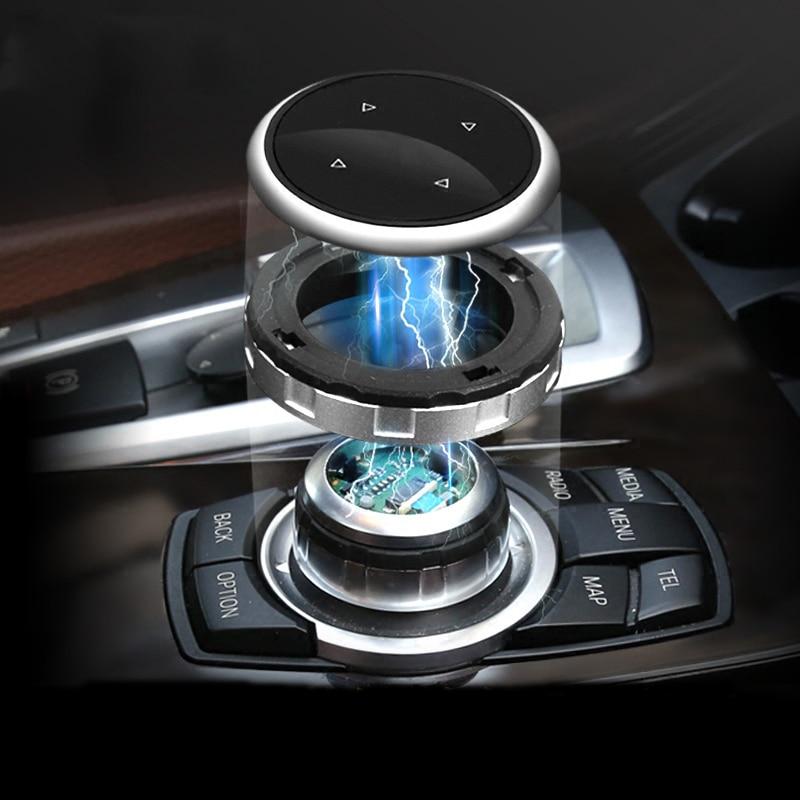For BMW F15 F16 F25 F26 E60 E70 E90 E92 X3 X5 F10 F20 F30 M Logo Multimedia Button Decoration Frame Auto Sticker Car Accessories