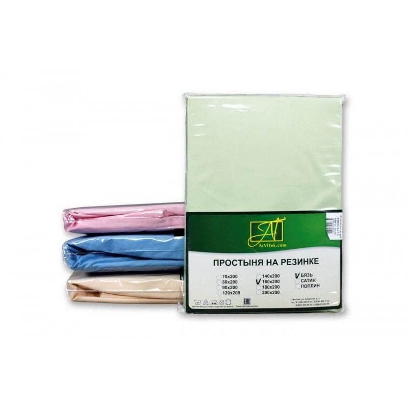 Фото - Bed Sheet АльВиТек, 200*214 cm, light green bed sheet альвитек 150 214 cm white