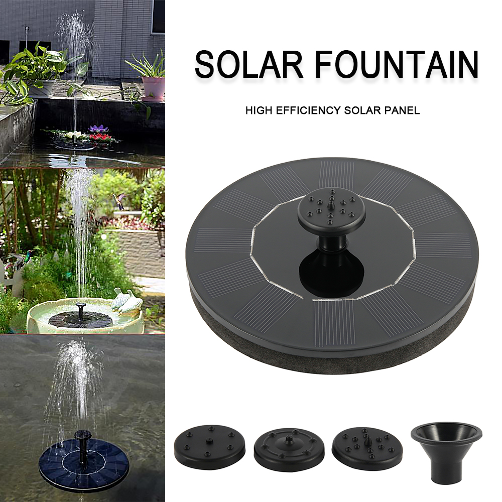 Solar Power Water Fountain Garden Pool Pond 30-45cm Outdoor Solar Panel Bird Bath Floating Water Fountain Pump Garden Decor Kit