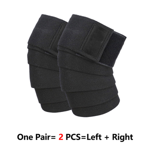 Image 5 - ROEGADYN Professional Weightlifting 2m Elastic Knee Wrap Fitness Knee Support Brace Heavy Weight  Squat Training Knee Brace