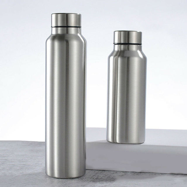 650ml/1000ml Stainless Steel Sport Water Bottle Single-layer Rugged Water Cup Camping Sports Gym Metal Flask Drinkware 1