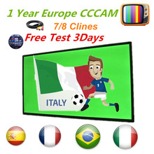 Europe Cccam Cline for 1year 7/8 line Europe Free Satellite Line Share Sever portugal/Spain/Italy/Germany IKS Satellite Receiver