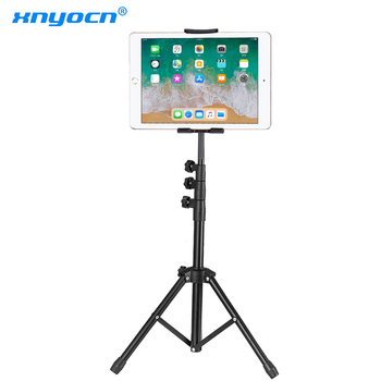 цена на 136 cm Tripod Rotation 4-13 Inch Tablet Holder Stand Tripod Stand for Ipad Air Mini 2 3 4 Tablet Mount for IPAD Pro 12.9 Iphone