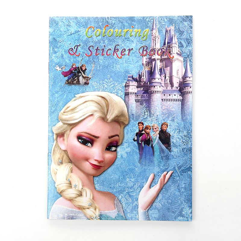 Frozen Cartoon Coloring Book Elsa Cute Cartoon Painting Book Car Mobilization Boy Girl Drawing Book Children Holiday Gift