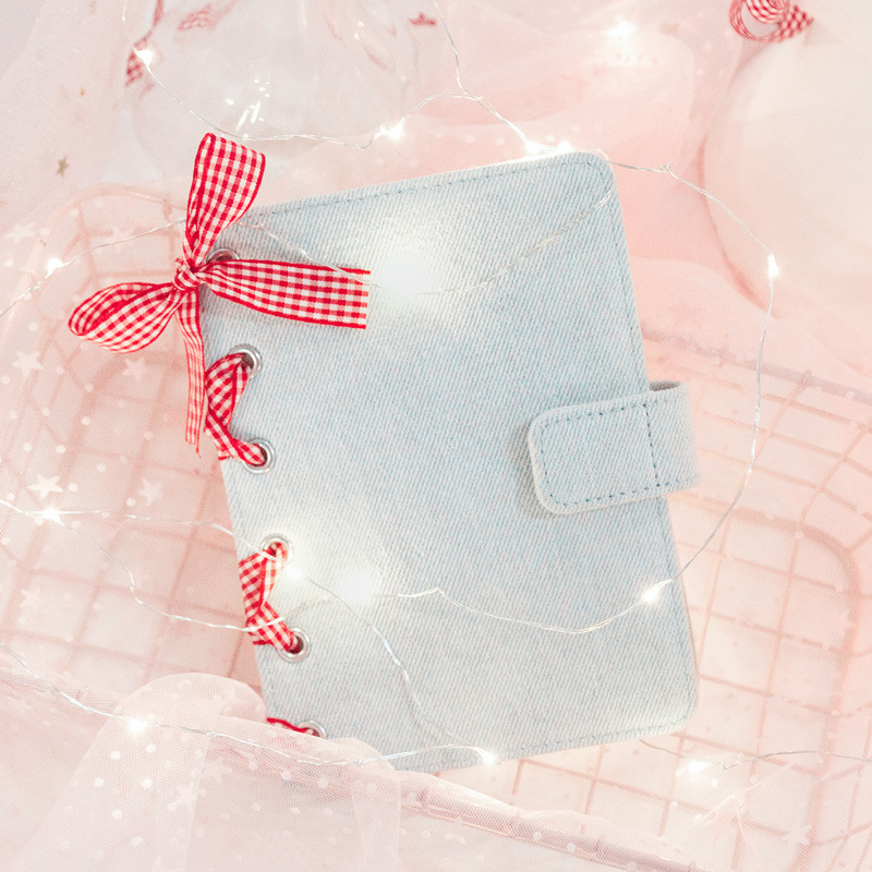 Cute Red Band Fashion A6 Girl Journal Diary Book 128 Sheets 2020 Undated DIY Monthly Weekly Planner Scheduler Gift