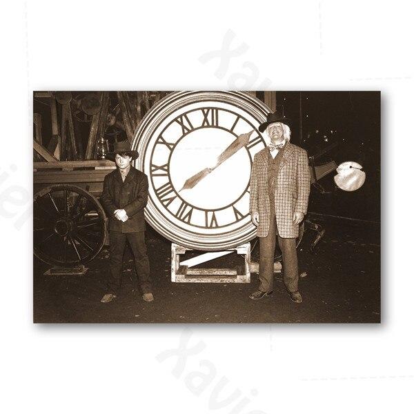 Винтажный постер Назад в будущее ретро из фильма холст hd печать