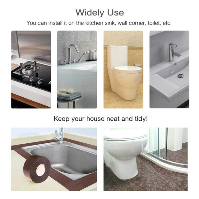 Bathroom Shower Sink Bath Sealing Strip Tape 6