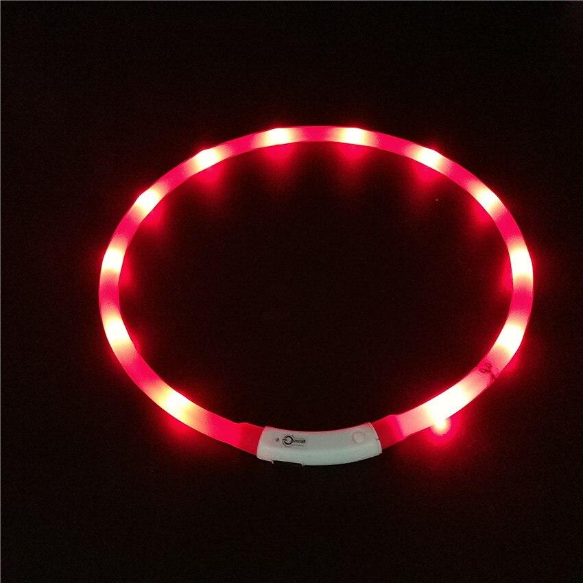 LED Fluorescent Night Light Charging Dog Neck Ring Creative Tube Dog Collar LED Charging Shining Dog Neck Ring