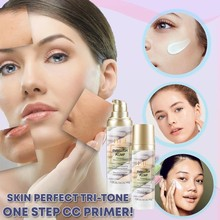 Skin Perfect Tri-tone One Step Cream Moisturizing Concealer Repair Pre-milk 40g Women Face Makeup Maquillaje Profesional Foundat