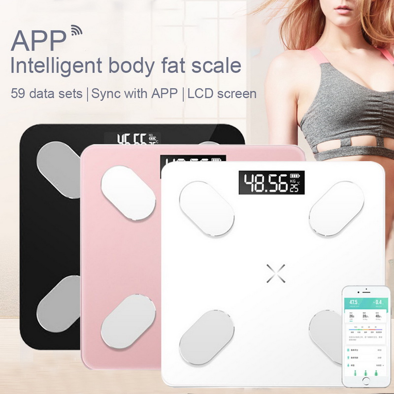 Weight-Scales Composition-Analyzer Floor Digital Bluetooth Bathroom Electronic Smart title=