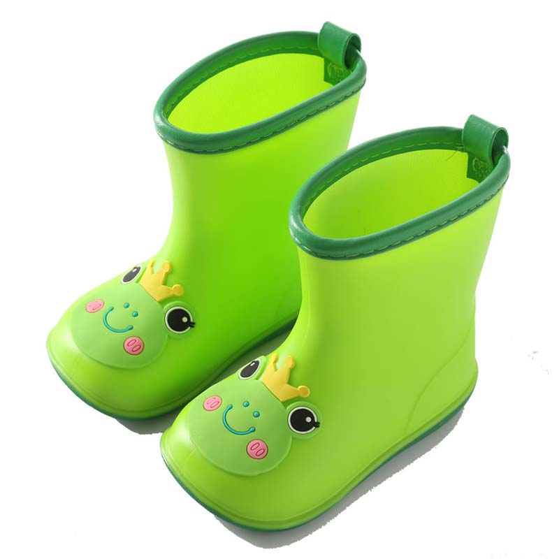 Frog Prince Rain Boots Kids Boys Non-slip Rubber Boots Baby Girls Waterproof Water Shoes Cartoon Children Rainboots All Seasons