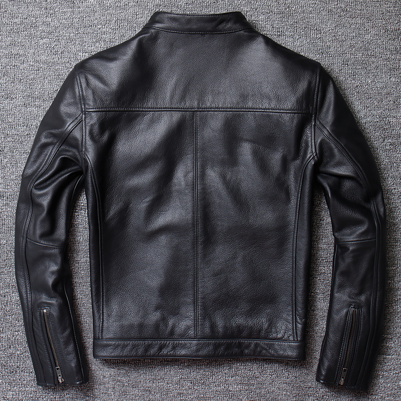 Genuine Cow Leather Jacket Sheepskin Coat For Men Cowhide Motorcycle Jacket Man Bomber Blouson Cuir Homme U681 KJ1452
