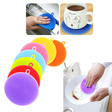 1PC Sponge Silicone for Bowl Pot Cleaning Brushes Cooking Tool Cleaner Sponges Scouring Pad Dish Washing Brush