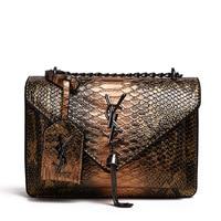 Brand Small square Bag Fashion New Women's Bag Handbag high quality Snake pattern shoulder Messenger Bag luxury Female Bag Purse