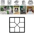 Форма для тротуара для садовых прогулок, ручная тротуарная форма для тротуарной обработки, кирпичные камни, дорожные бетонные формы, многор...