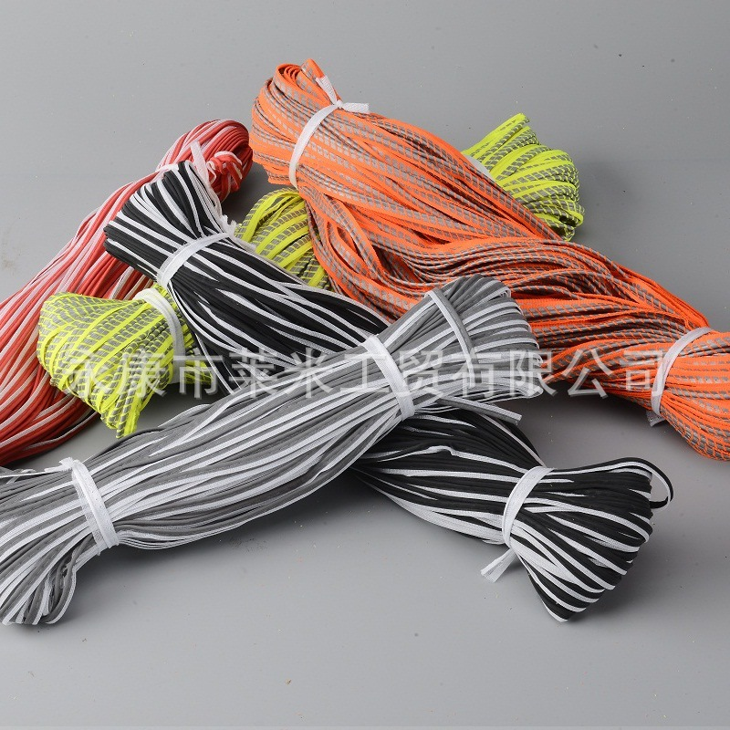 Manufacturers Supply Reflective Strip Roll A Margin Card Line Fluorescence Green Trim Fluorescein Reflective Material