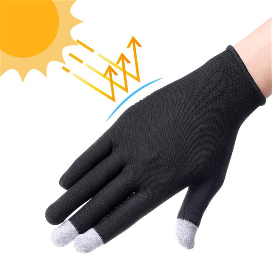 UNWE Breathable Anti Skid Gel Touch Screen Gloves for Summer Suitable for Bike Riding and Driving Enables to Use Phone Without Exposing Hands